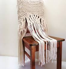 vintage wedding accessories home decor macrame rope chair zoom