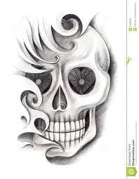 skull tattoo images free skull art tattoo stock illustration image 55355069