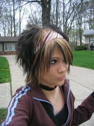 hair styles short in front and long in back long in front but spiked in back young girl hairstyles long emo
