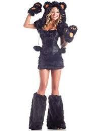 Fur Halloween Costumes Playful Panda Costume Stockings Animals Dresses