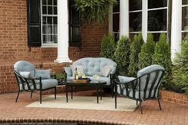 Outdoor Lounge Furniture Chandler 4pc Outdoor Seating Set Get Your Sumptuous Seating At Kmart