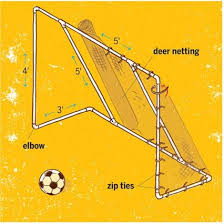 Backyard Soccer Nets by How To Make A Pvc Soccer Goal For The Backyard Diy Pinterest