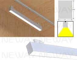 Pendant Track Lighting Fixtures 24w 36w 48w 60w Led Track Light Linear Led Pendant Track Lighting