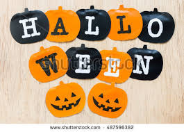 free halloween flags black and orange flags on wooden background