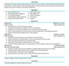 medical esthetician resume sample pacqco esthetician resume 19