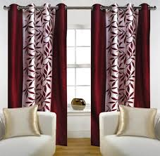 buy home candy leave 2 piece polyester window curtain set 60