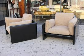 Pair Of Chairs For Living Room by Italian Pair Of Lounge Chairs By Gavina For Studio Simon For Sale