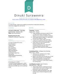Copywriting Resume Dinuki Suraweera U2013 Strategic Storyteller