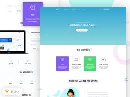 agency homepage design sketchapp free psds u0026 sketch app