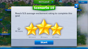 how to beat scenario 10 of rct4m roller coaster tycoon 4 mobile