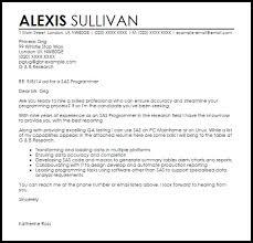 sample cover letter for programmer