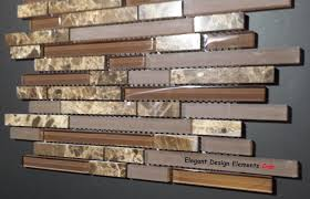 Kitchen Backsplash Mosaic Tile Polished Dark Emperador Stone Mosaic U0026 Brown Glass Tile Kitchen