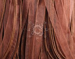 copper ribbon copper brown organza ribbon necklaces