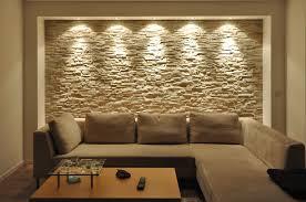 Wohnzimmer Beleuchtung Bilder Wandgestaltung Mit Riemchen