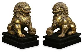 foo lions for sale pair of foo dog statues houzz