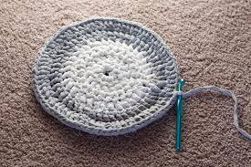Crochet Tshirt Rug Pattern T Shirt Yarn Rug Thrifty Below