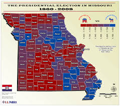 Political Map United States by Political Leanings By Missouri County Map Missouri U2022 Mappery