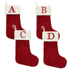Christmas Trees Cable Knit Monogram Christmas Stocking Christmas Tree Shops Andthat