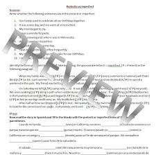 preterite practice worksheet worksheets