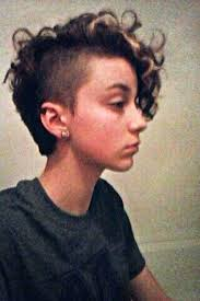 curly shaved side hair shaved curly hair pixie cuts hair pinterest shaved curly