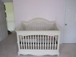 Vintage Nursery Furniture Sets Furniture Vintage White Stained Wooden Baby Bed With Baby Crib