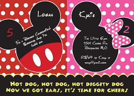 mickey and minnie mouse birthday invitations u2013 bagvania free
