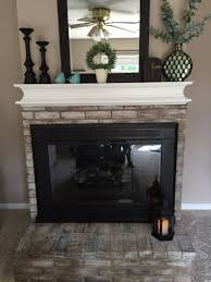 how to whitewash brick and paint your brassy fireplace re fabbed