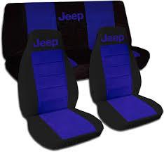 dark purple jeep jeep wrangler yj tj jk 1987 2017 two tone seat covers w logo full