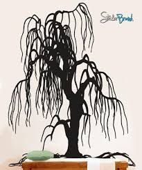 vinyl wall decal sticker weeping willow tree decor 153