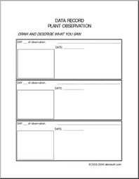 science isn u0027t scary observation station recording sheets