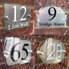 plaque numero rue maison signe plaque porte numéro rue verre acrylique argent
