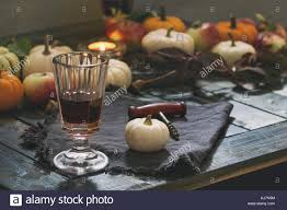 Holiday Table Decorating Autumn Holiday Table Decoration Setting With Decorative Pumpkins