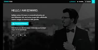 personal portfolio template edward folio portfolio template html bootstrap template