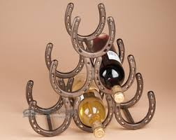western wine rack horseshoes