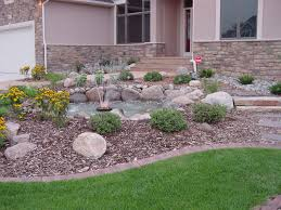 Landscaping Front Of House by Exciting Simple Landscaping Ideas For Small Front Yards Photo