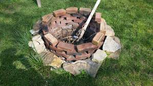 how to light a fire pit how to build a fire pit in your backyard for 50 or less