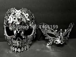 mardi gras skull mask aliexpress buy men women silver metal evil skull venetian