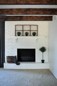 white brick fireplace top summer fireplace with white brick