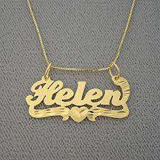Personalized Gold Name Necklaces Personalized Gold Custom Name Pendant Necklace Jewelry For Child