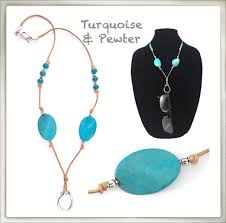 leather turquoise necklace images Leather natural turquoise eyeglass ring necklace indigo market jpg