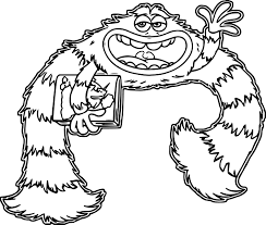 monsters university coloring pages university coloring pages