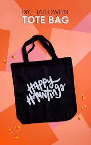 diy halloween bag hand lettered consumer crafts