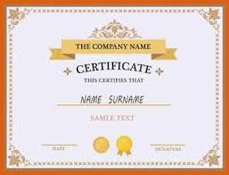 certificate template free apa examples