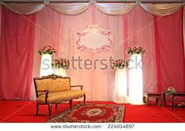 vintage wedding stage decorations luxury indoors wedding stage