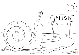 snail reaching finish coloring free printable coloring
