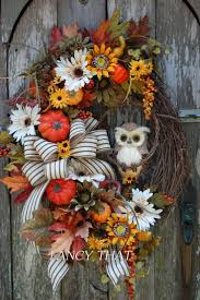 etsy thanksgiving decorations 163 best fall halloween grapevine wreaths images on pinterest