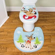 Christmas Bathroom Rugs by Reindeer Toilet Lid Cover U0026 Rug Orientaltrading Com Braydens