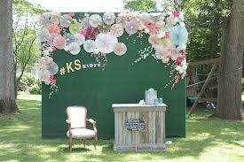 wedding backdrop grass before and after photos diy rustic wedding knock it the