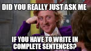 Meme Sentences - meme creator did you really just ask me if you have to write in