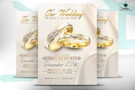 wedding flyer wedding flyer psd template flyer templates creative market